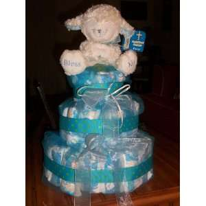Diaper Cakes for Baby (little lamb in blue also available