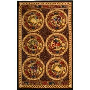 Brown Wool Area Rug, 5 Feet 3 Inch by 8 Feet 3 Inch