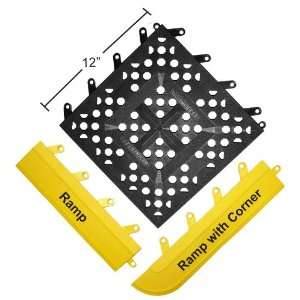 Wearwell PVC 540 FIT Functional Interlocking Anti Fatigue Ramp