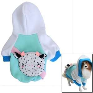 Dog Hoodie Hooded Coat Clothes w/ Backpack   S Pet
