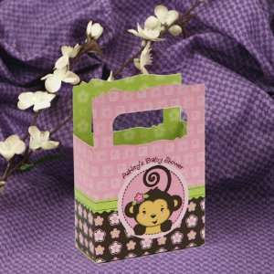 Monkey Girl   Mini Personalized Baby Shower Favor Boxes Toys & Games