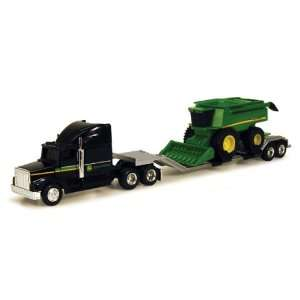 John Deere Construction Semi Truck with Combine  Toys & Games