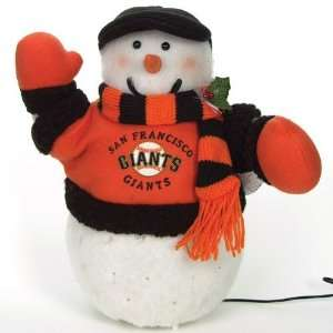 San Francisco Giants MLB Fiber Optic Light Up Snowman (16