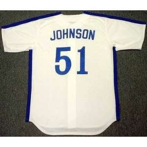 RANDY JOHNSON Montreal Expos 1988 Majestic Cooperstown Throwback Home