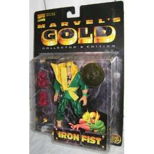 Iron Fist 7 Action Figure Marvel Gold Collectors Edition  Toys