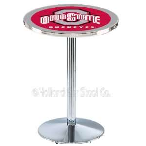 Ohio State Buckeyes Chrome Pub Table L214 Sports