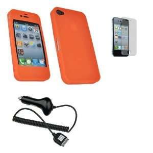 Mobile Palace   Orange silicone skin case cover pouch