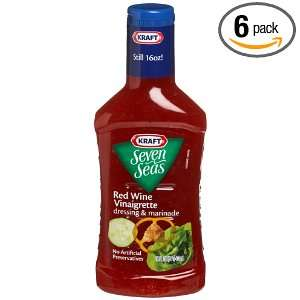 Kraft Seven Seas Red Wine Vinaigrette Dressing and Marinade, 16 Ounce
