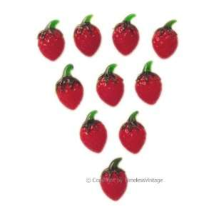 10 Art Glass Strawberry Fridge Refrigerator Magnets