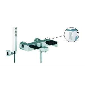 Brick Wall Mounted Tub Faucet with Hand Shower with