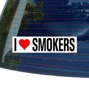 I Love Heart SMOKERS   Window Bumper Sticker Automotive
