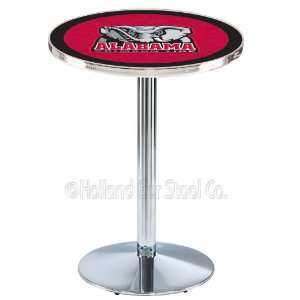 Alabama Crimson Tide Chrome Pub Table L214