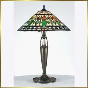 Tiffany Table Lamp, QZTF6972VB, 1 light, Antique Bronze, 16 wide X 25