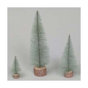 18 Blue Spruce Village Tree Wood Stand Arts, Crafts & Sewing