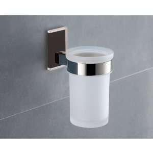 Gedy 7810 14 Wall Mounted Frosted Glass Toothbrush Holder