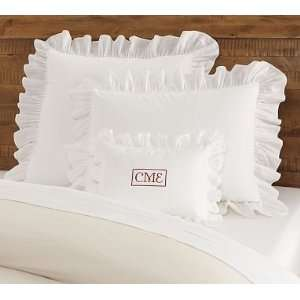 Pottery Barn Ruffle Boudoir Pillow Cover & Shams