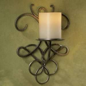Wrought Iron Wall Sconce   Antique Pewter