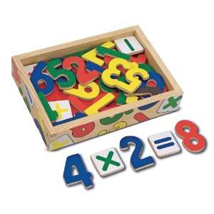 Melissa & Doug Magnetic Wooden Numbers Toys & Games