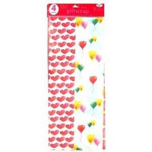 24 Packs of Love Theme Gift Wrap