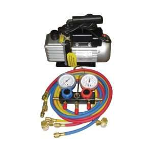 FJC Vacuum Pump And Gauge Set Heating, Cooling, & Air Quality