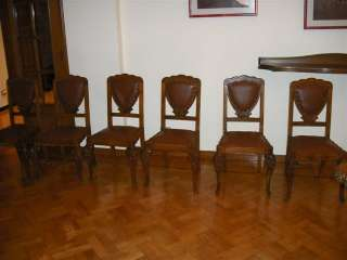 NICE WALNUT ART DECO DINING ROOM CHAIRS 11IT006D