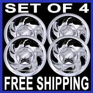 Chrome Wheel Skins Hub Caps Rim Covers 5 Lug Slot Steel Wheels