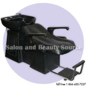 Shampoo Backwash Unit Bowl Chair Bed Salon Equipment L1