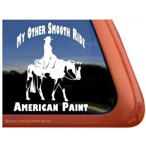 My Other Smooth Ride Paint Horse Trailer Vinyl Window