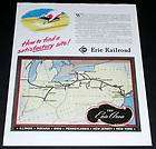 1945 OLD WWII MAGAZINE PRINT AD, ERIE RAILROAD, COMPANY