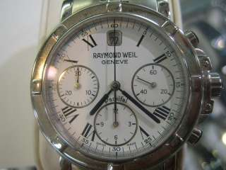 RAYMOND WEIL GENEVE MENS WATCH AUTOMATIC SAPPHIRE ALL STAINLESS S