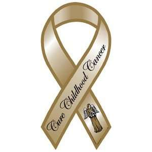 Cure Childhood Cancer Awareness Ribbon Magnet Automotive